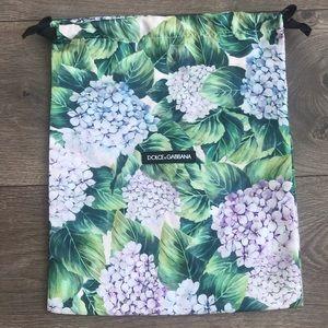 Dolce & Gabbana Silk Floral / Leaves Dust Bag
